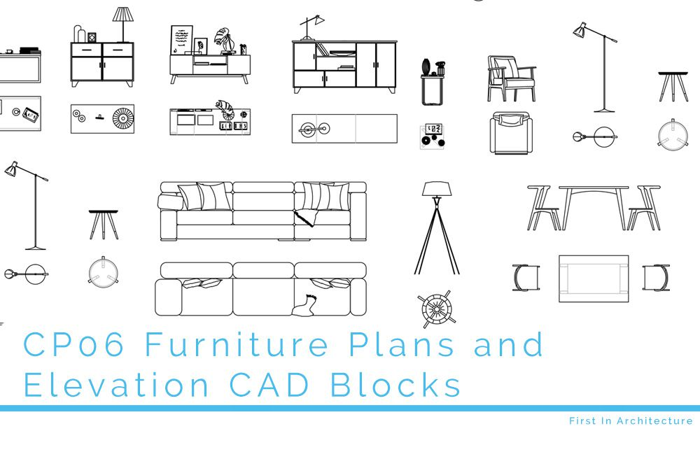 CP06 Furniture Plan and Elevation CAD Blocks