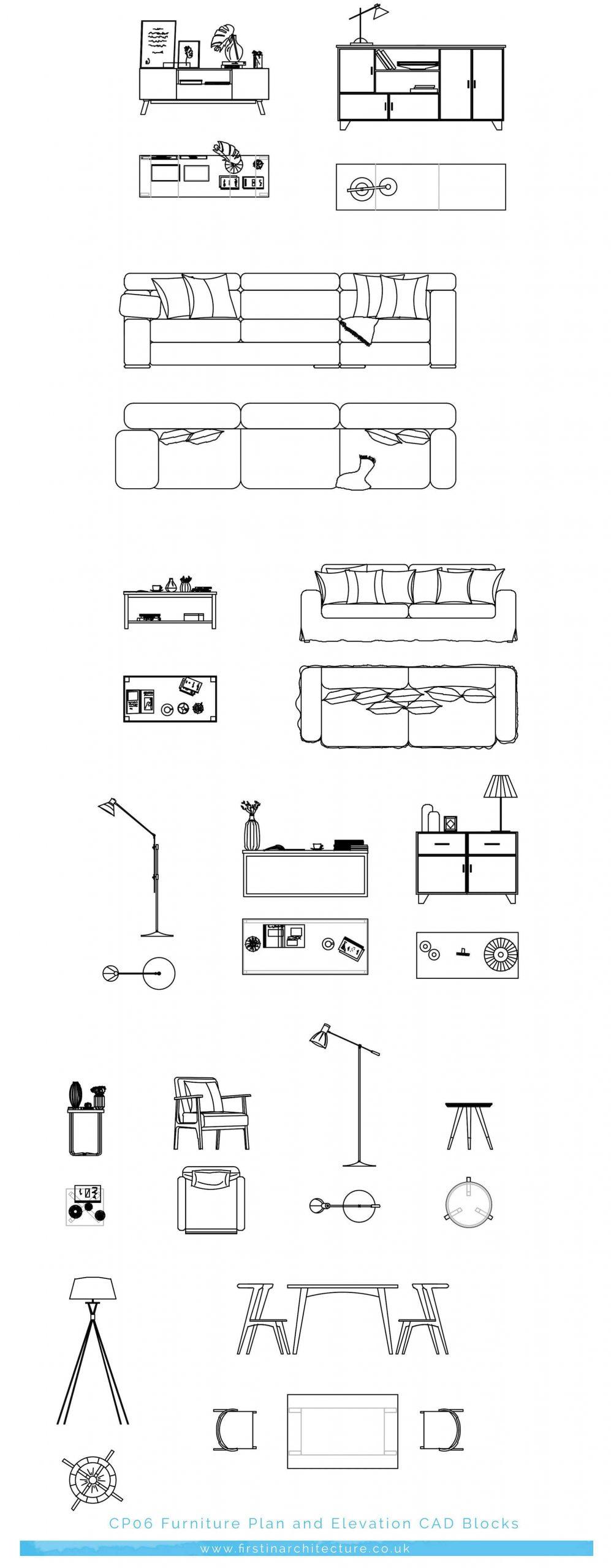 CP06 Furniture plan elevation LR