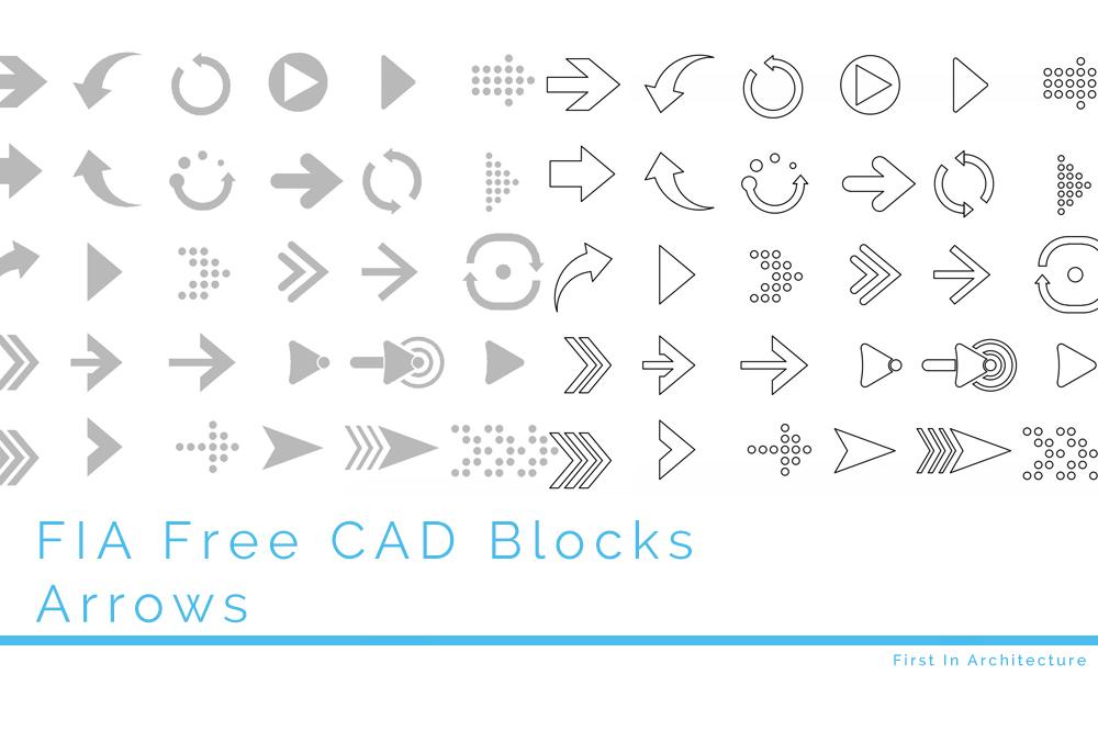 Free Arrow CAD Blocks