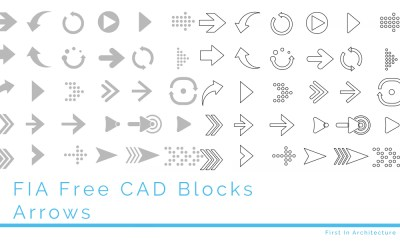 Free Arrow CAD Blocks