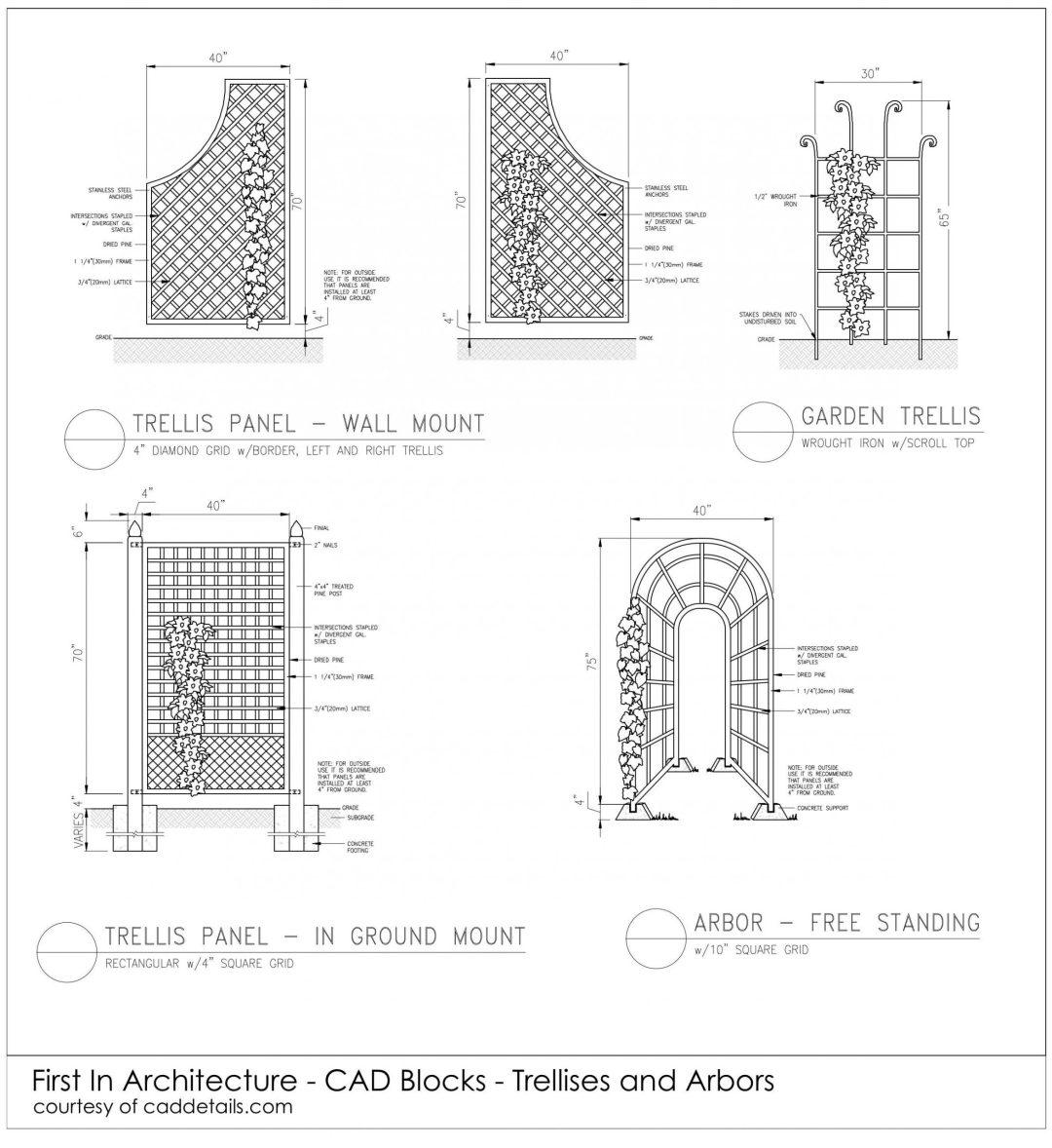 FIA CAD Blocks Trellises