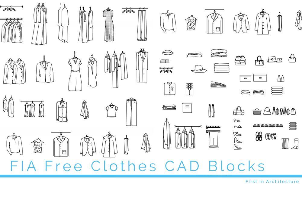 Free Clothes CAD Blocks