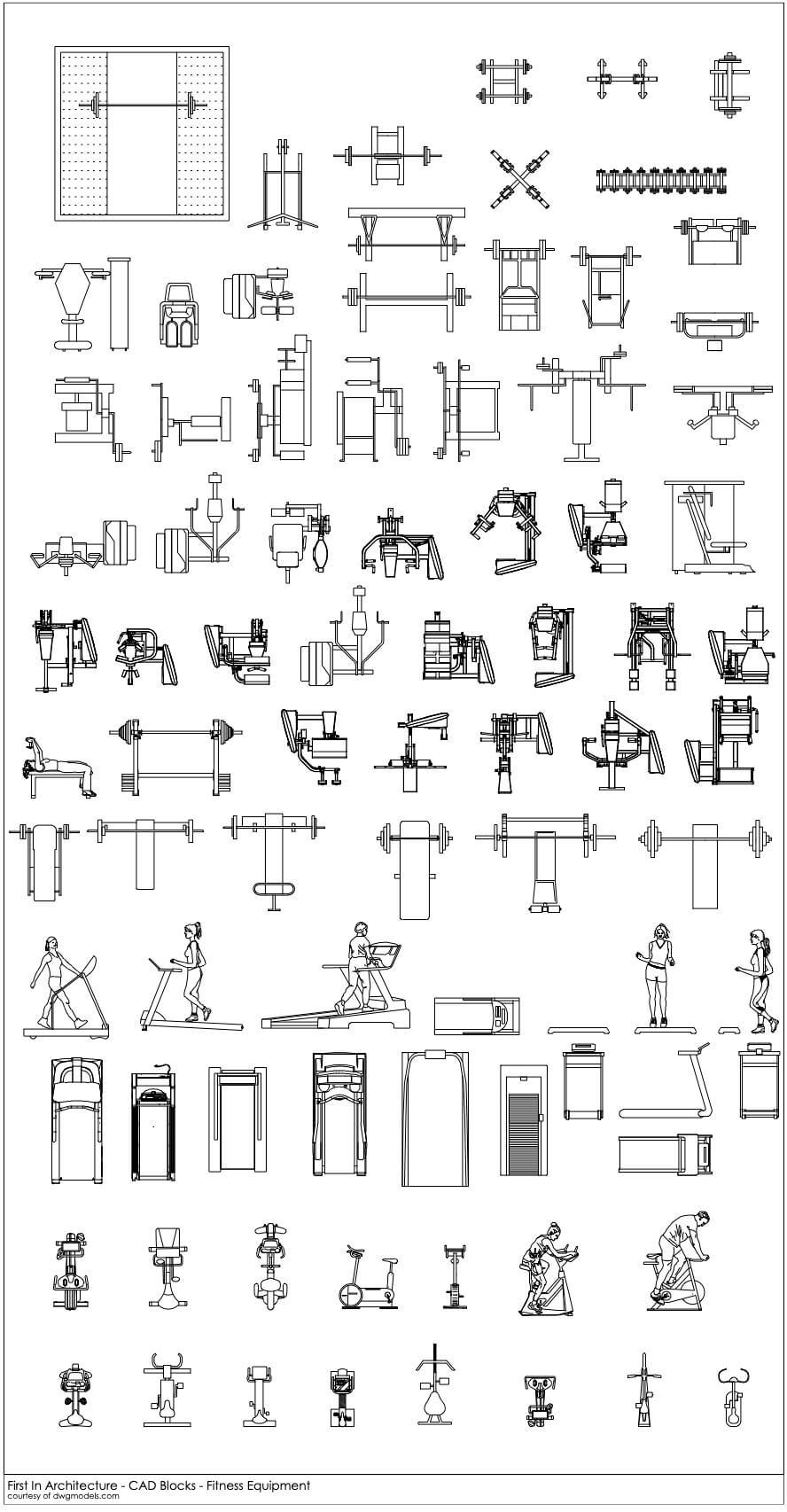 FIA CAD Blocks Fitness Equipment 1