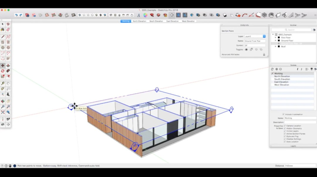 SketchUp Course creating sections