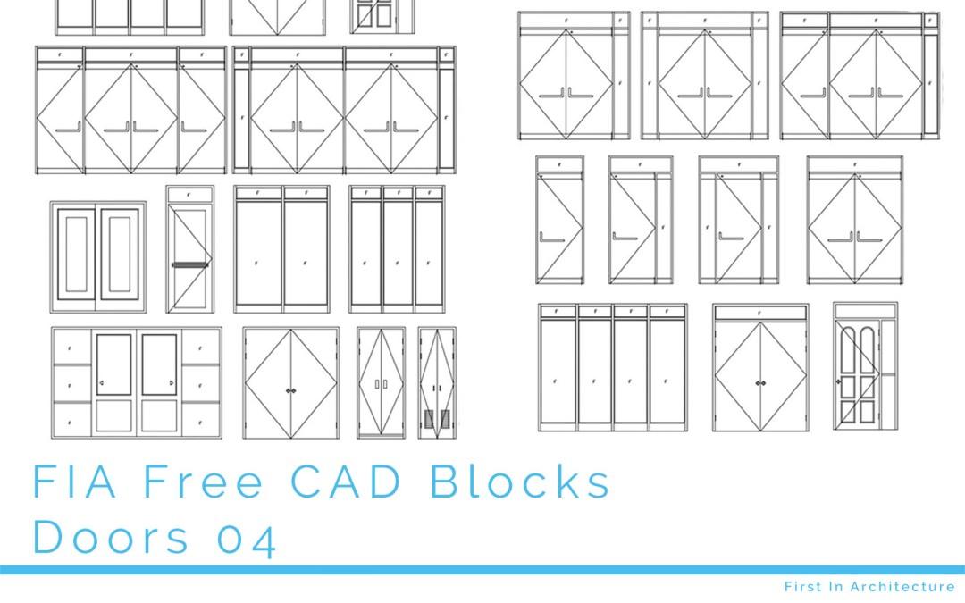 Free CAD Blocks – Doors 04