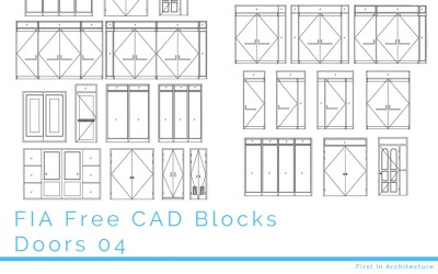 Free CAD Blocks – Doors 04