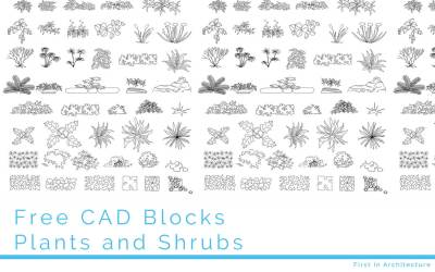 Free CAD Blocks – Plants and Shrubs
