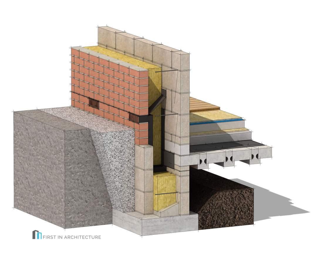 Masonry Cavity Wall Passivhaus Foundation Detail
