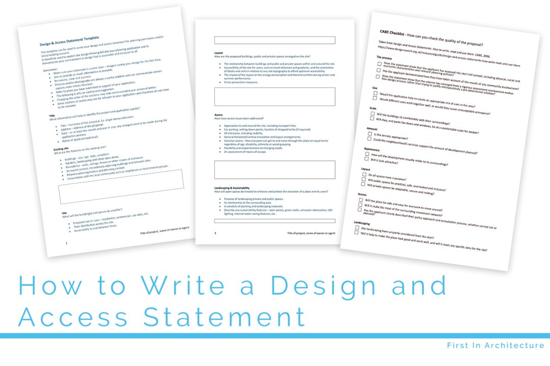 How to write a design and access statement fi