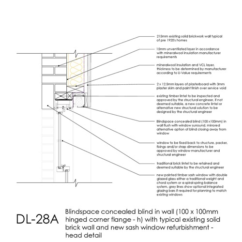 DL28A sash window concealed blind detail thumb