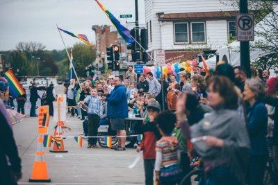 Andy and Eli at parade