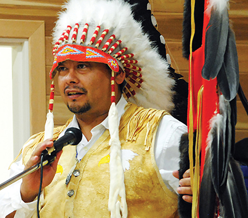 In 2012, Chief Shane Gottfriedson (pictured here) of the Tk'emlups te Secwepemc and Chief Garry Feschuk (next photo) of the shíshálh Nation launched the Day Scholars Class Action lawsuit.