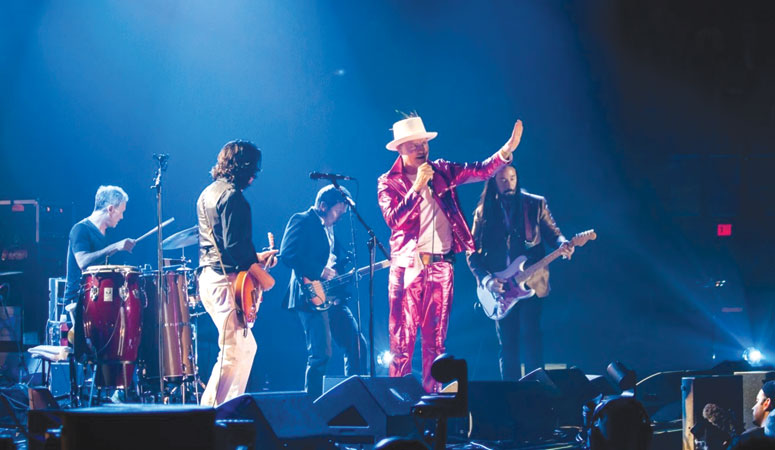The Tragically Hip gave their final performance on August 20th in Kingston, Ontario, using the opportunity to advocate for Northern Indigenous Communities. Photo © Mike Homer