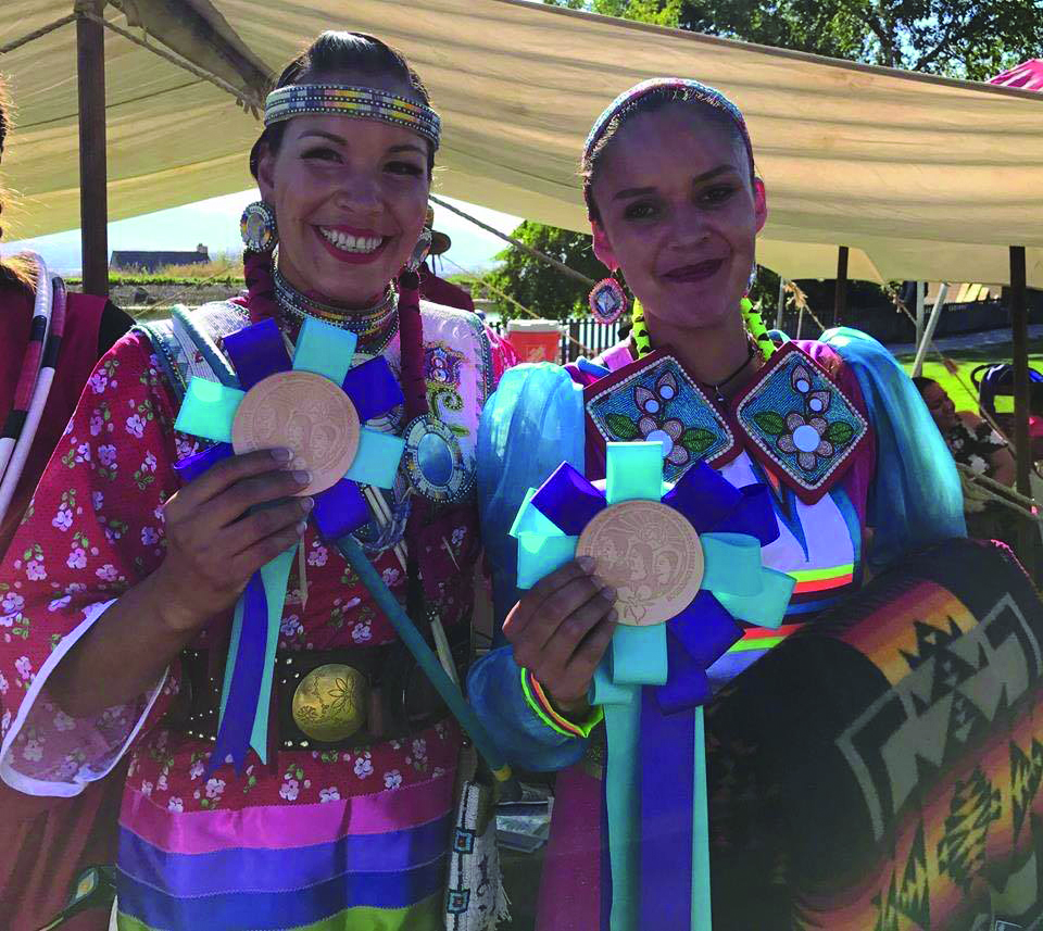 (Right to left) Violet John Kehewin of the First Nation and Sandra Yellow Horn of the Piegan Nation