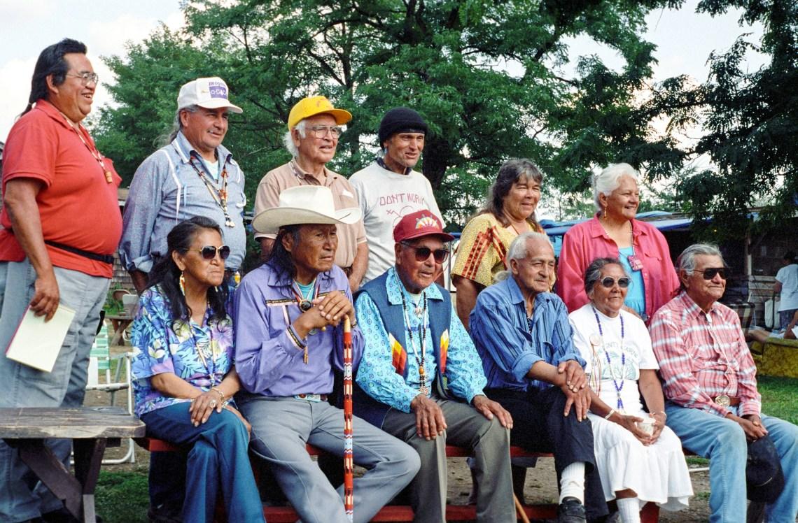 Trad circle Sappa Dawn Janet and Don McClouds Yelm Washington photo by Danny Beaton 1993