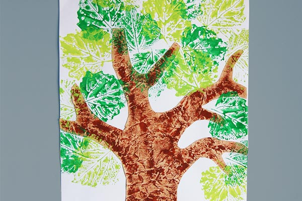 Printable Pages Coloring Spring Tree