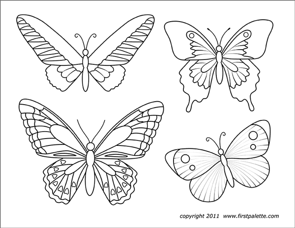 Butterflies Free Printable Templates Amp Coloring Pages
