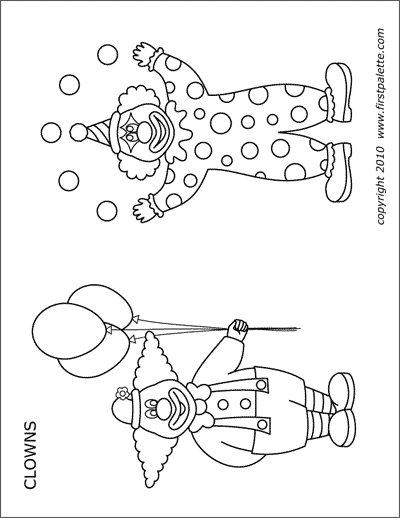 Clowns Free Printable Templates Coloring Pages Firstpalette Com