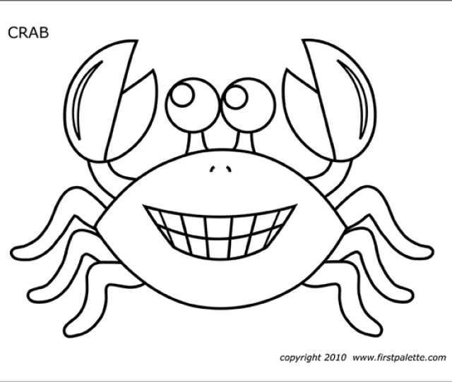 Crab Free Printable Templates Coloring Pages Firstpalette Com