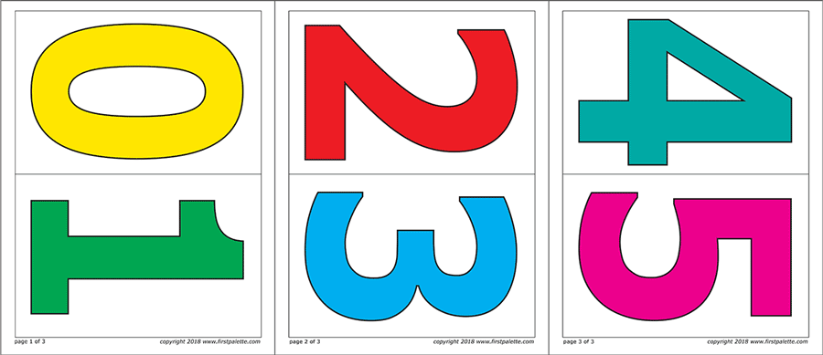 Numbers Free Printable Templates Coloring Pages Firstpalette Com