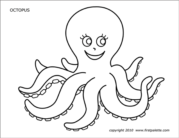 Octopus Free Printable Templates Coloring Pages Firstpalette Com