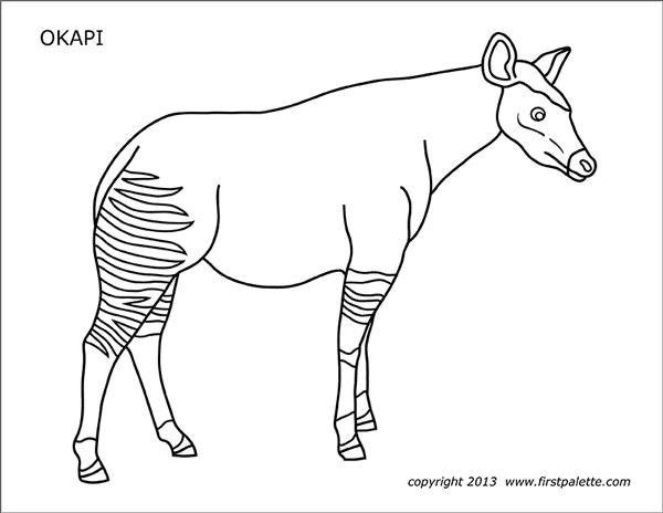 Okapi Free Printable Templates Amp Coloring Pages