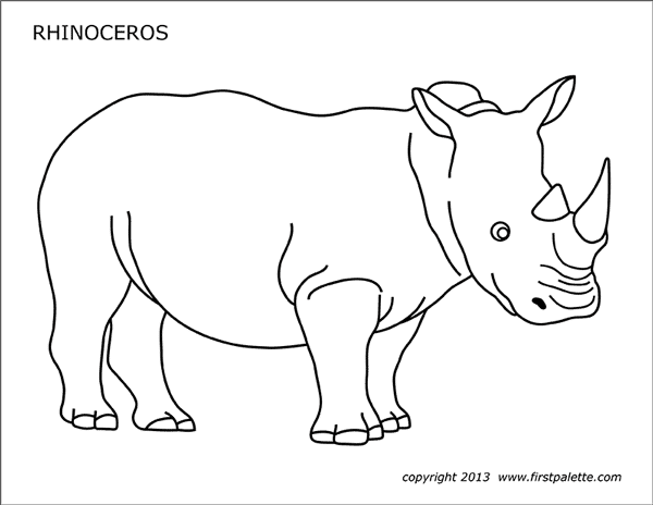 Rhinoceros Free Printable Templates Amp Coloring Pages