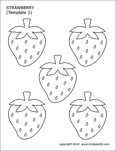 Strawberry Free Printable Templates Coloring Pages Firstpalette Com