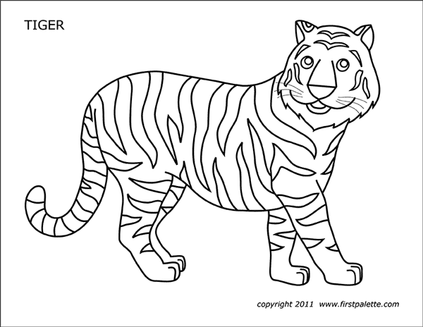 Tiger Free Printable Templates Coloring Pages Firstpalette Com