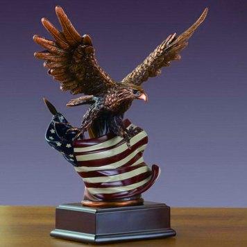 Bronze Eagle on flag