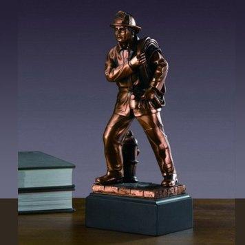 Tesoro Standing Fireman sculture