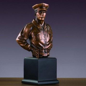 Tesoro Policeman Bust sculpture