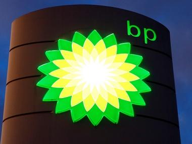 The logo of BP is seen at a petrol station in Kloten. Reuters