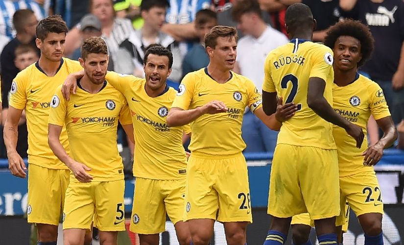 The opening week of Premier league saw Chelsea (in picture), Liverpool, Manchester City and United fielding a 4-3-3 formation. AFP
