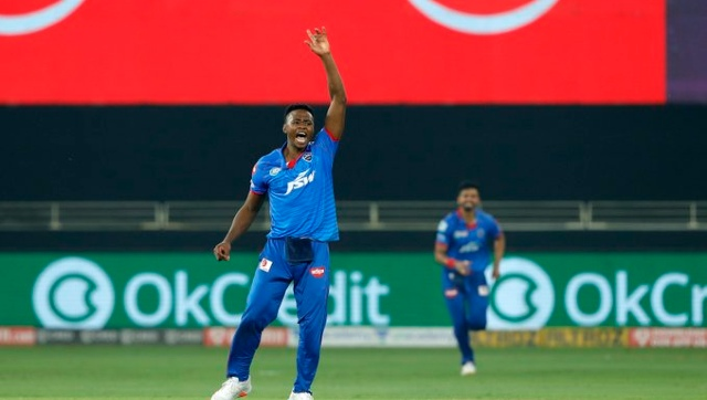 Kagiso Rabada's sensational super over ensured DC's win. Image courtesy: Twitter/ @DelhiCapitals