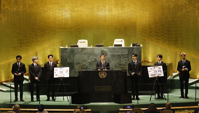 Watch BTS advocate for COVID vaccines sustainability at 76th UNGA