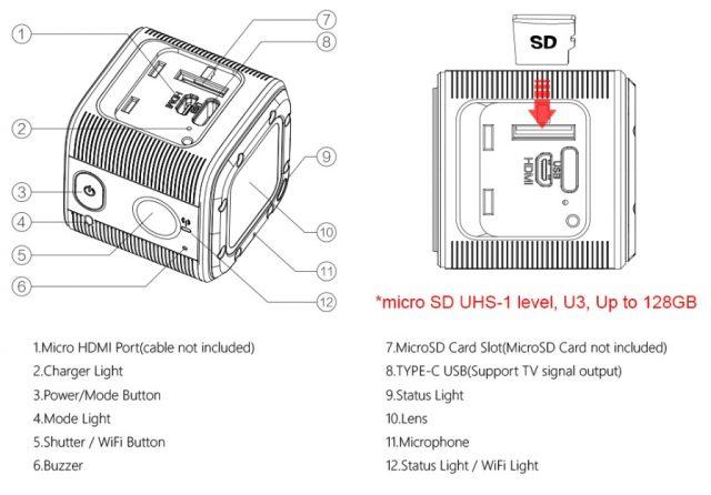 Foxeer Box 2 camera main parts