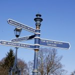 Hitchin Sign Post