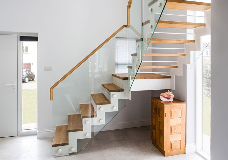 First Step Designs Zigzag Staircase | First Floor Steps Design | Vastu Duplex House India | Limited Space | Entrance Step | Structural Steel Stair | Residential Stair