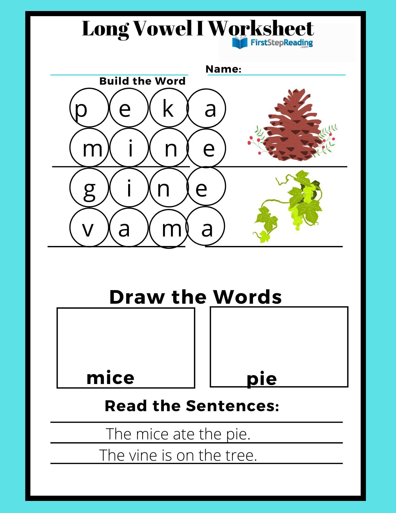 Phonics Worksheet Long Vowel I Worksheet