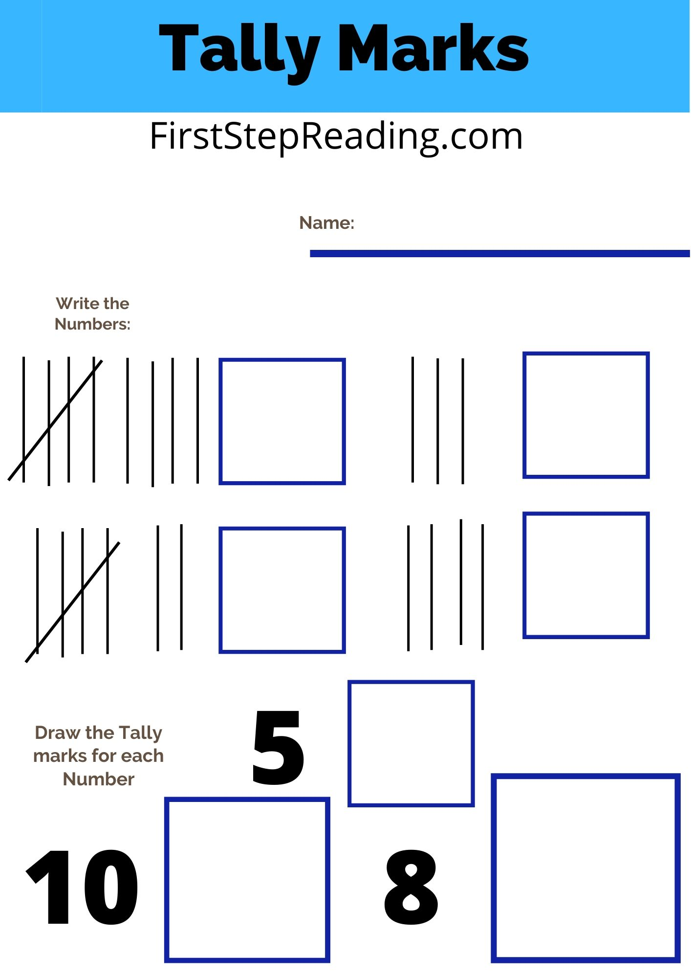 Tally Marks Worksheets