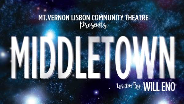 Header portion of poster for MiddleTown play