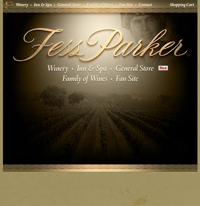 Fess Parker Winery Web Design Before