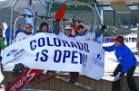 Opening day at Colorado's Arapahoe Basin Ski Area, Oct. 21, 2016. (photo: Jack Dempsey)