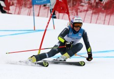 Frederica Brignone (ITA) competes in the first run of the Giant Slalom during the Audi FIS Ski World Cup at Killington in central Vermont on Saturday, November 26, 2016. (FTO photo: Martin Griff)