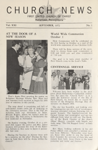 Church News, September, 1972