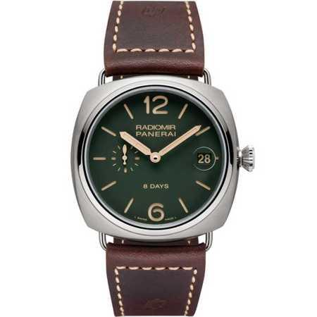 Replica Panerai Radiomir 8 Days Titanio Green PAM00735 - Panerai Clone Watches