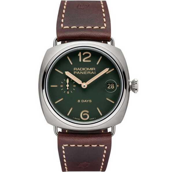 Replica Panerai Radiomir 8 Days Titanio Green PAM00735 – Panerai Clone Watches