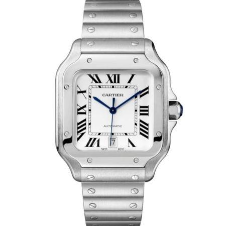 Replica Cartier Santos de Cartier Steel Large WSSA0009 - Cartier Clone Watches