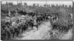 Russian troops on the Western Front passing French review